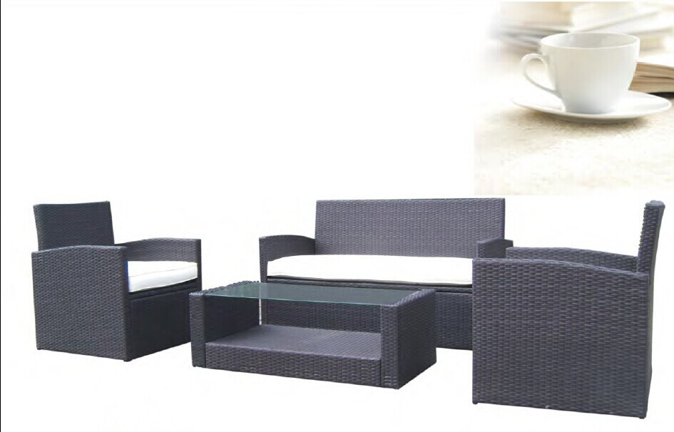 Grey Synthetic Rattan Garden Furniture
