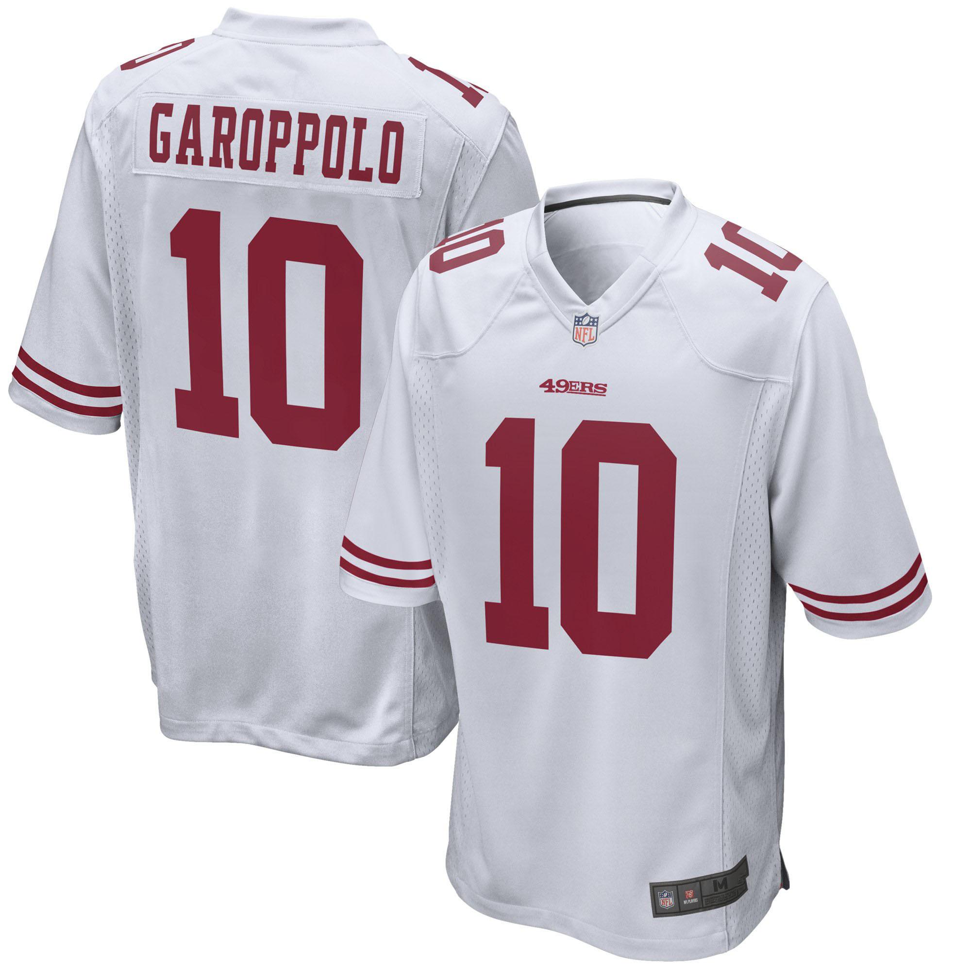 buy online 8db58 fb5c0 China 49ers Jimmy Garoppolo Red White Black Alternate Game ...