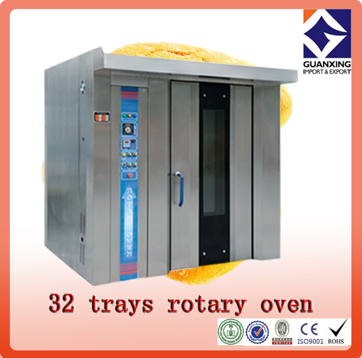 Gas Bread Oven/Baking Oven /Compartment Gas Deck Oven for Bread Baking/Hot Air Circulation Oven