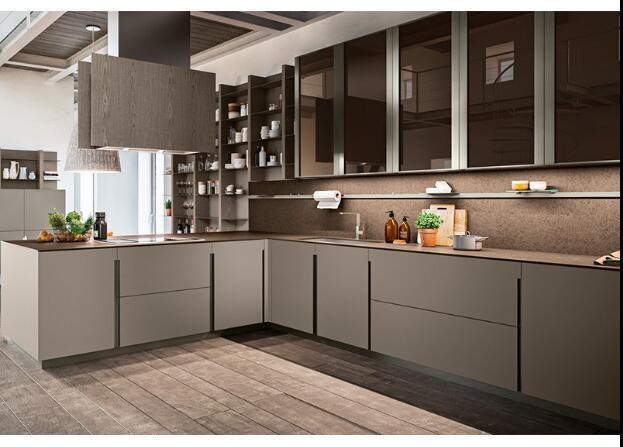 China White Shaker Luxury Modular Kitchen Cabinets Solid Wood Direct