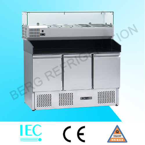 Stainless Steel Commercial Pizza Refrigerator