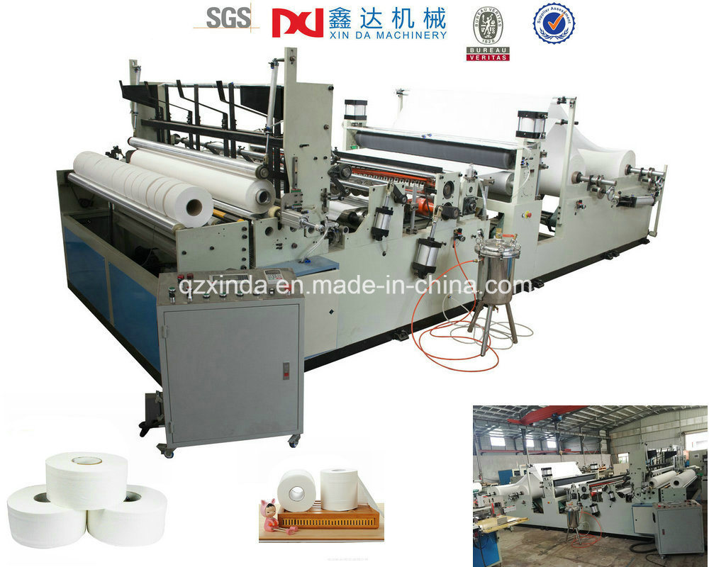 China Best Selling Rewinder Big Toilet Paper Roll Machine Supplier ...