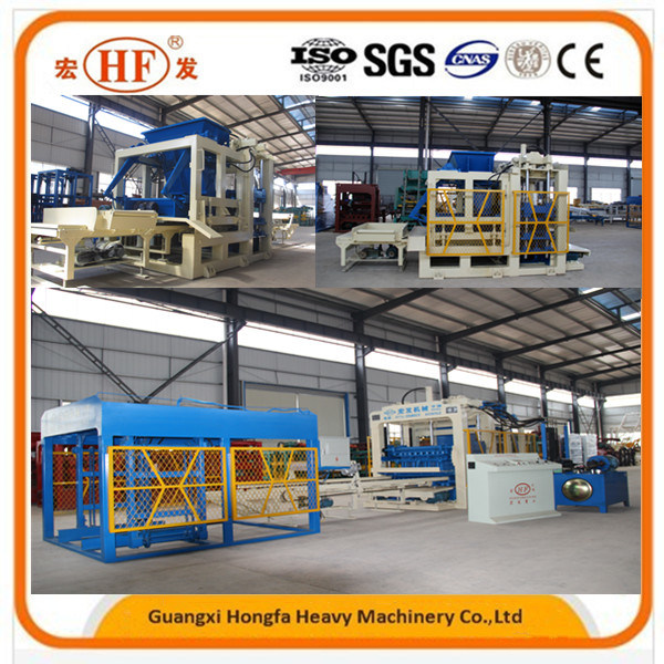 Qt10-15 Cement Concrete Hollow Block Making Machine, Brick Production Line pictures & photos