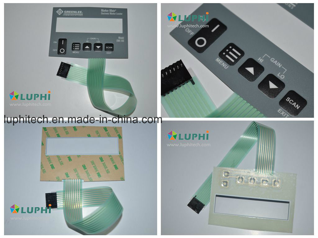 China Electric Circuit Control Keypad Membrane Switch Silk Screen ...