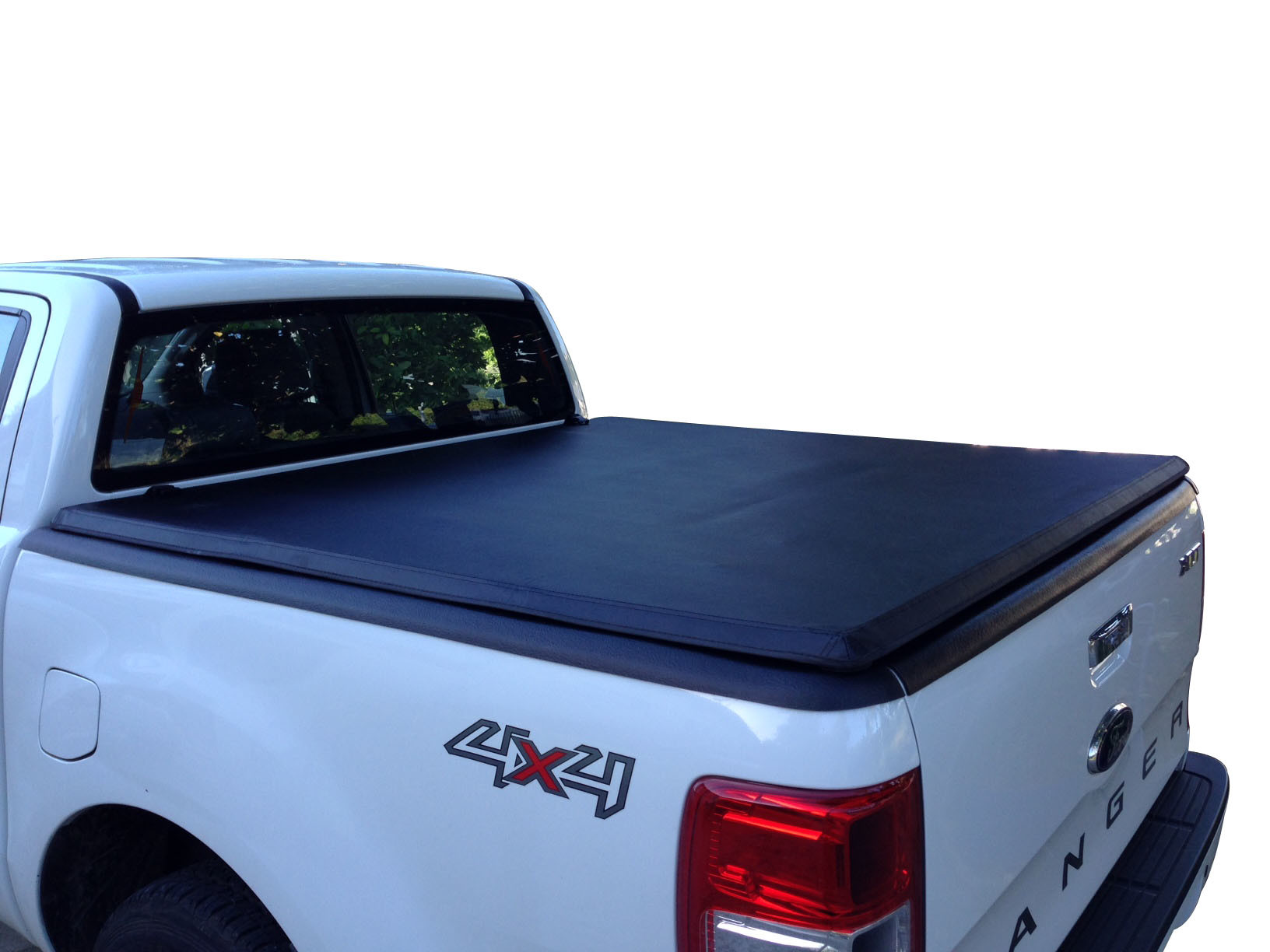 China Soft Tri Fold Tonneau Cover For Ford Ranger Double Cab 12 15 China Tonneau Cover Deck Cover