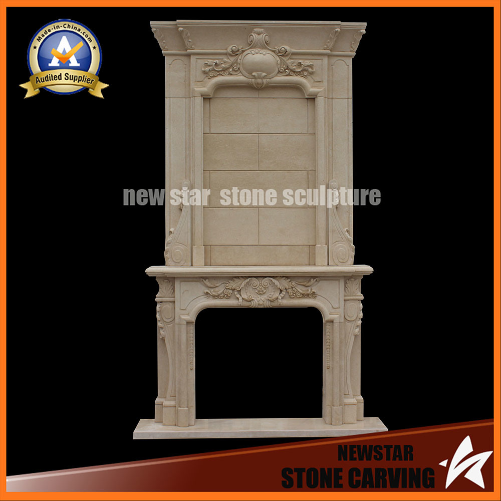 China Marble Sculpture Stone Fireplace Surround Mantel Sandstone
