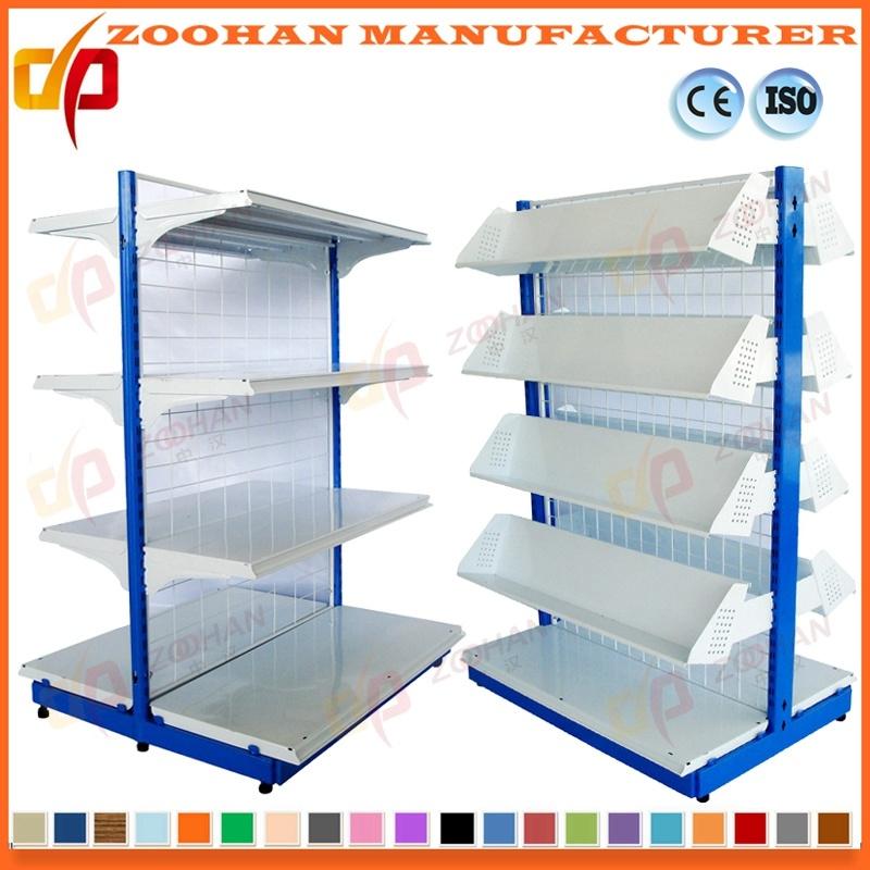 China Adjustable Double Side Back Wire Mesh Supermarket Rack Shelf ...