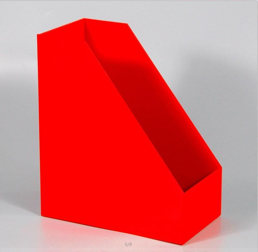 Acrylic Desk File Doent Brochure Box Organizer Stand Holder Rack