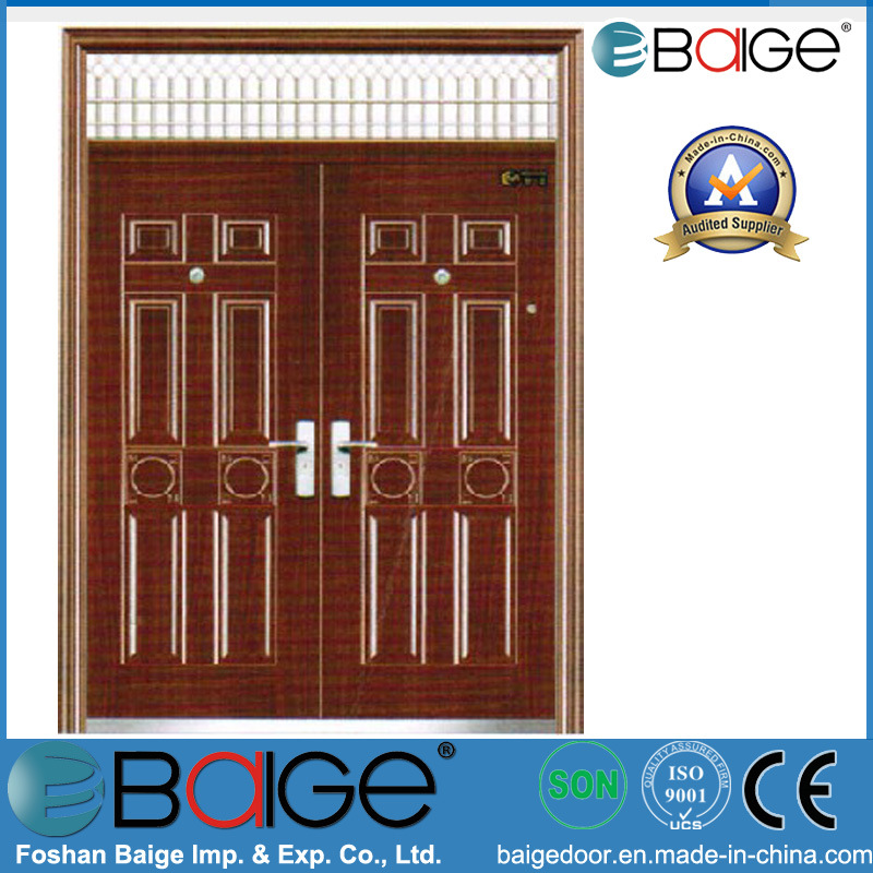 China Modern Steel Double Exterior Door Bg Fb9017 China Steel