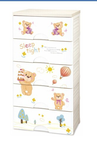 New Product 3 Layers Colorful Plastic Cabinet pictures & photos
