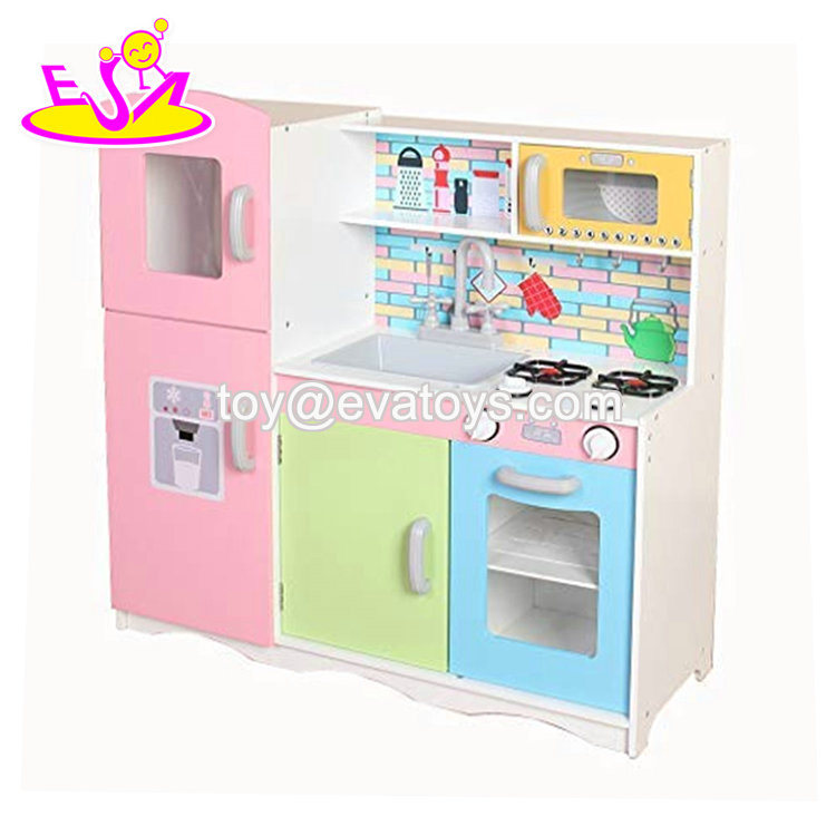 China Best Design Colorful Wooden Play Kitchen For Childrens