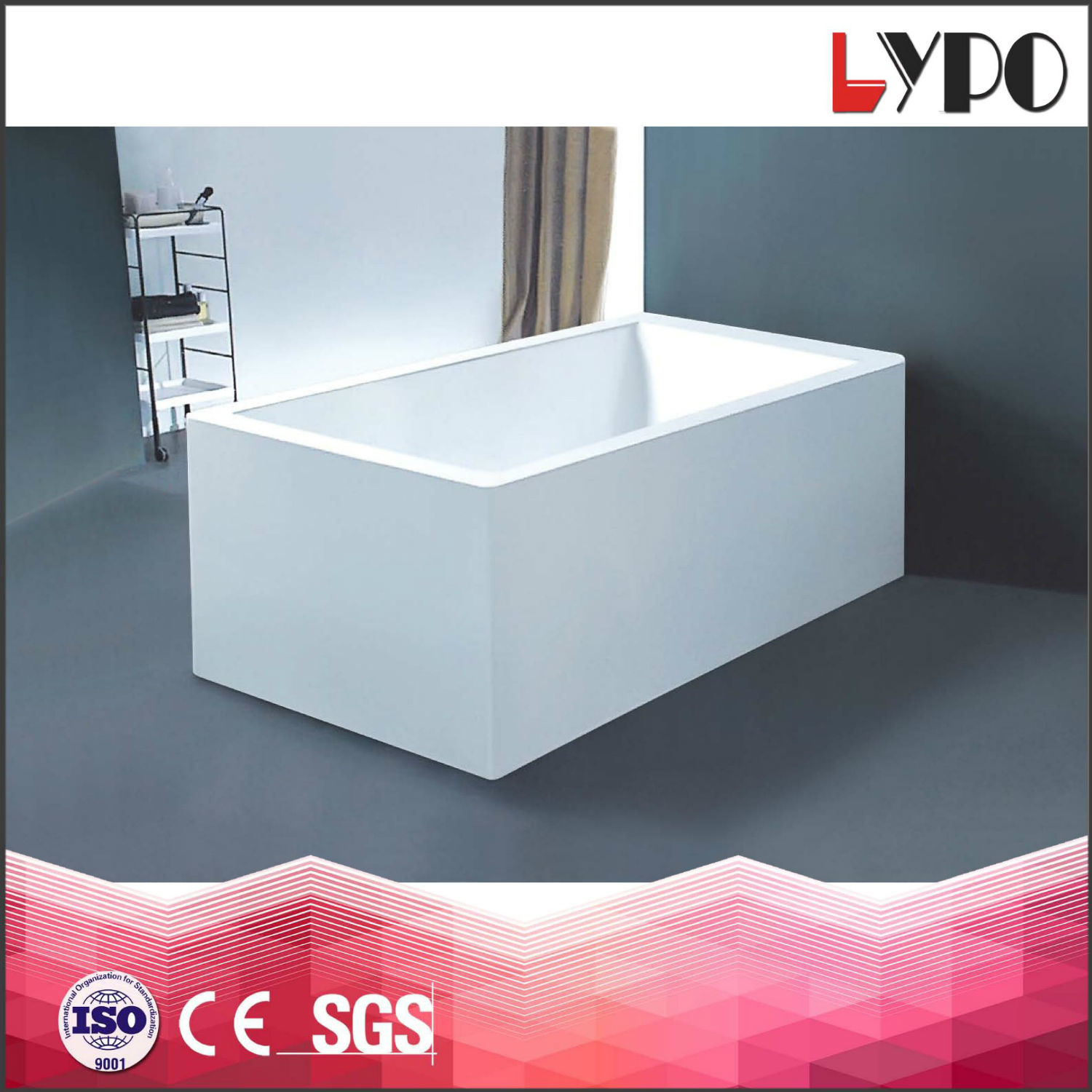 China K-8710 Square Shape Freestanding Acrylic Complete Simple ...
