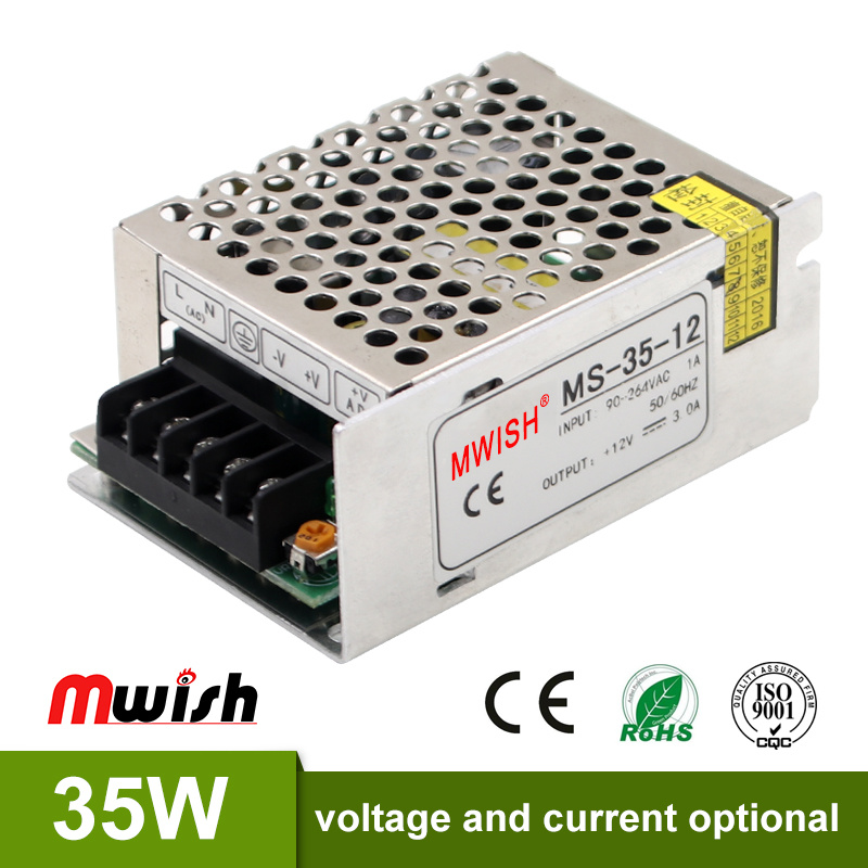 China Factory Price 35W Mini Size SMPS 12V 3A Regulated Power Supply ...