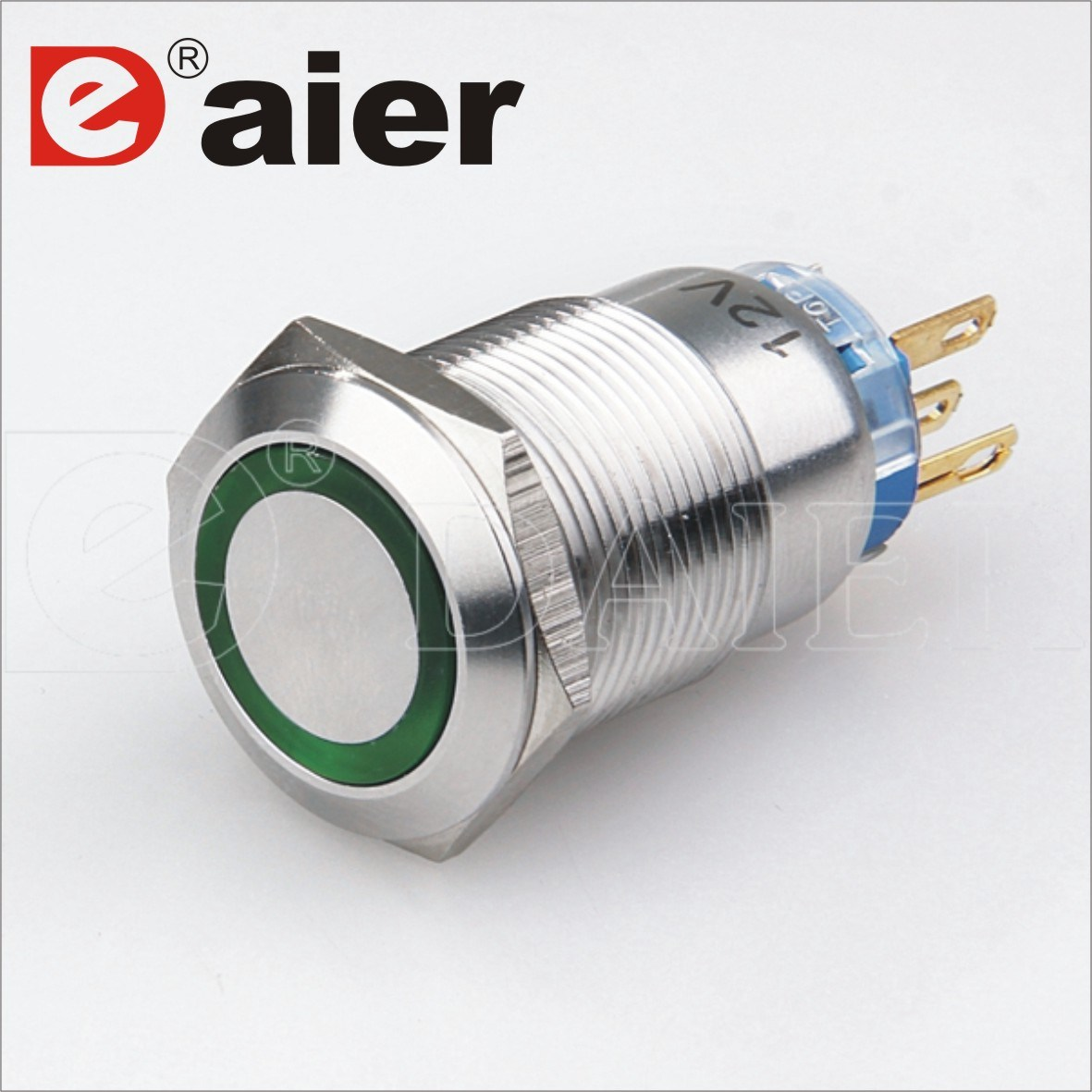 China Electrical 5 Pin Momentary 19mm LED Metal Push Button Switch ...