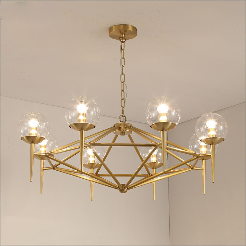 Hot Item Gl Ball Led Pendant Lights Modern Chandelier Lighting