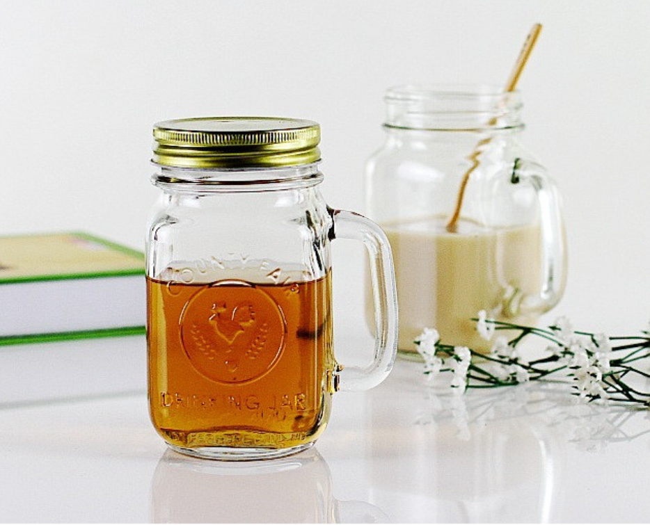 4oz 8oz 12 Oz 16oz 32oz Mason Jar Drinking Glass Jar With Lid, Wholesale  Mason Glass Jar For Preserving Salad