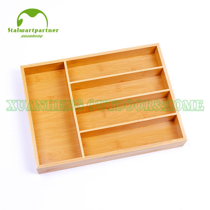China Bamboo Drawer Organizer Kitchen Adjustable Drawer Divider Expandable Cutlery Tray Utensil Storage Organizer China Bamboo Tray And Bowl Price