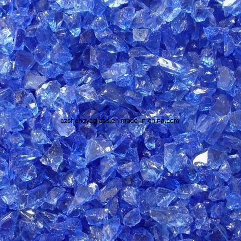 Hot Item Crushed Cobalt Blue Glass Marble Chips For Terrazzo Flooring