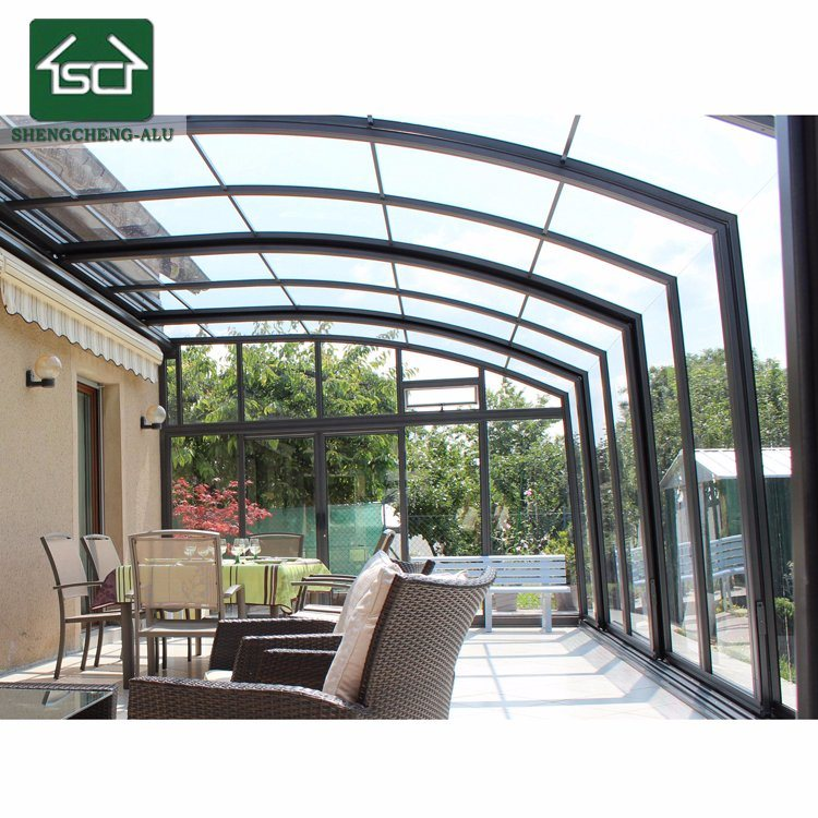China 2018 Aluminium Sunroom Morden Glass House Commerical Garden