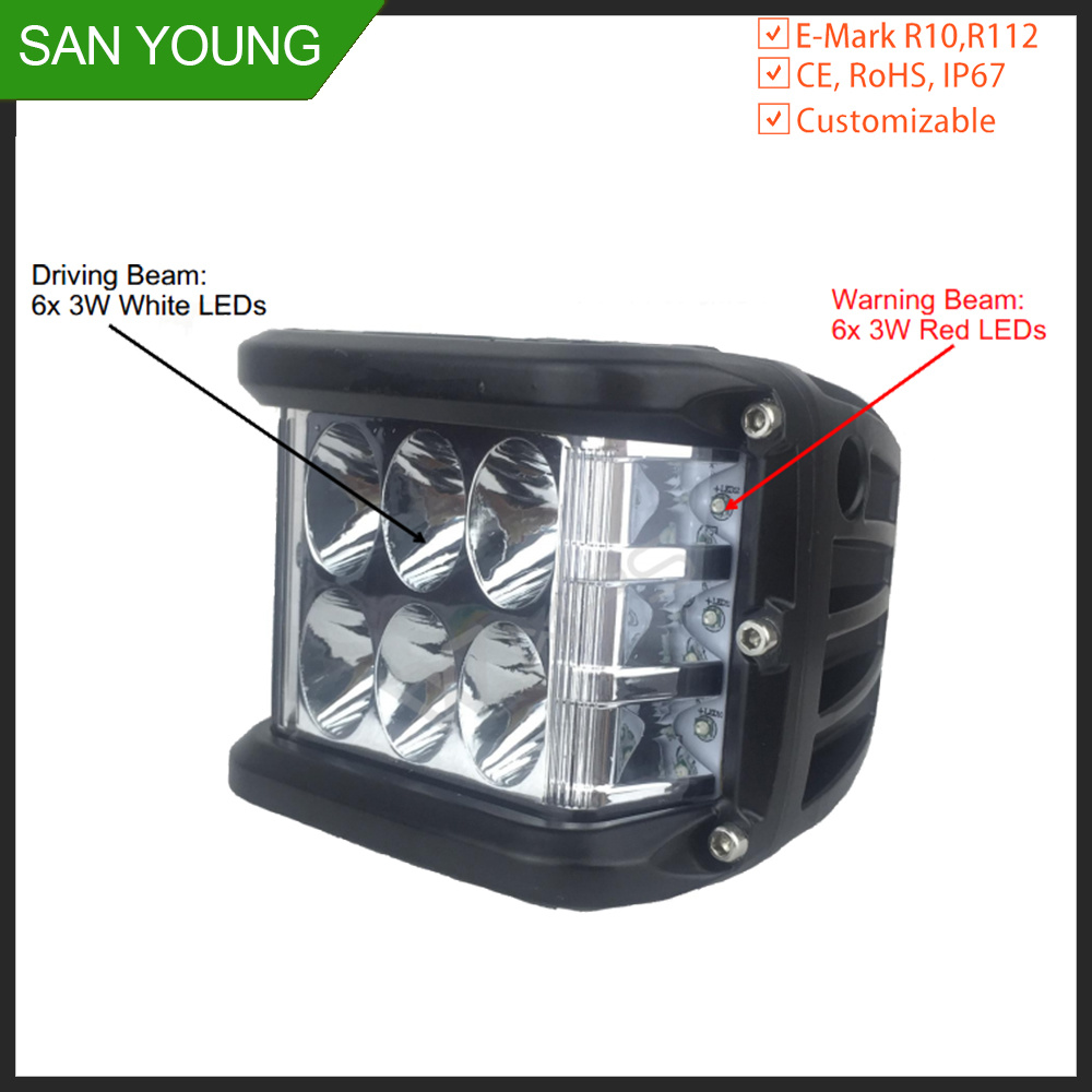 1220348c78bf [Hot Item] Dual Side Shooter LED Light Pod 36W LED Driving Light for Offroad