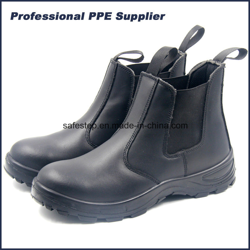China Smooth Action Leather Steel Toe