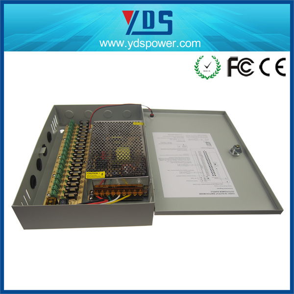 CCTV Power Supply Box 12V 20A 18CH pictures & photos