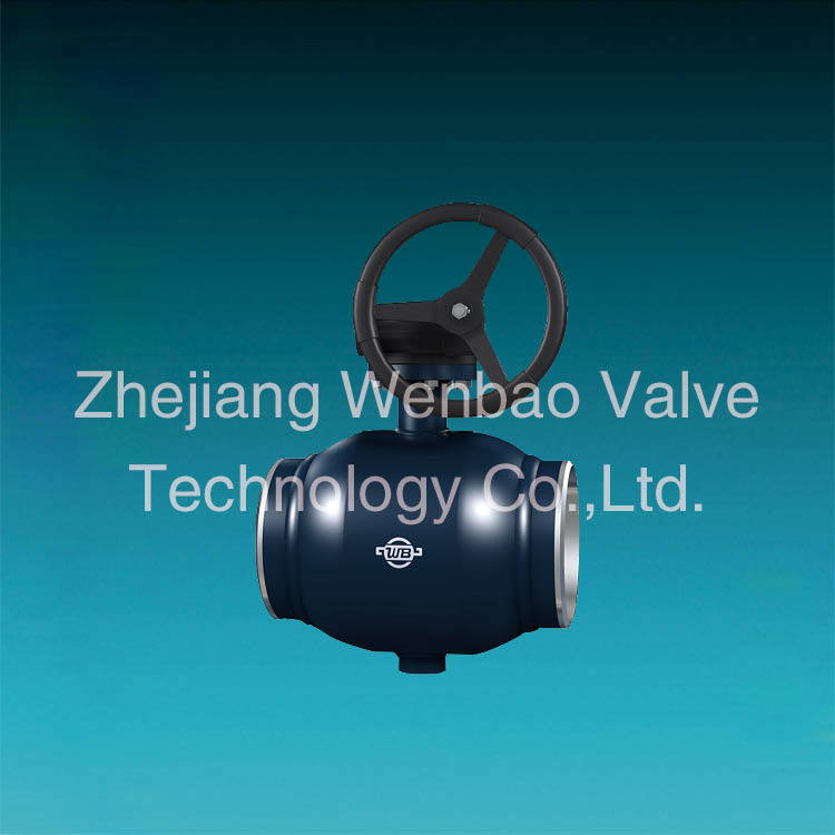 China Factory St. 37 Trunnion Mounted Full Welded Ball Valve Wenzhou Manufacturer pictures & photos