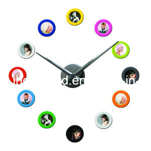 China Colorful DIY Photo Frame Wall Clock For Home Decoration (ih 1833)    China Photo Frame Clock, Picture Frame Clock