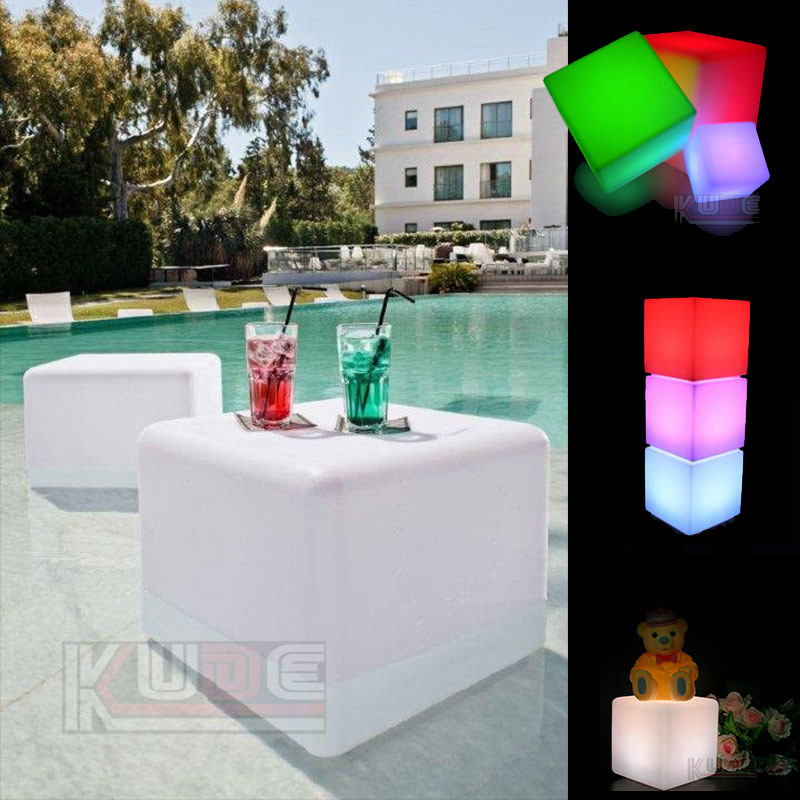 Waterproof Cube Table and Chair Outdoor Table for Swimming Pool