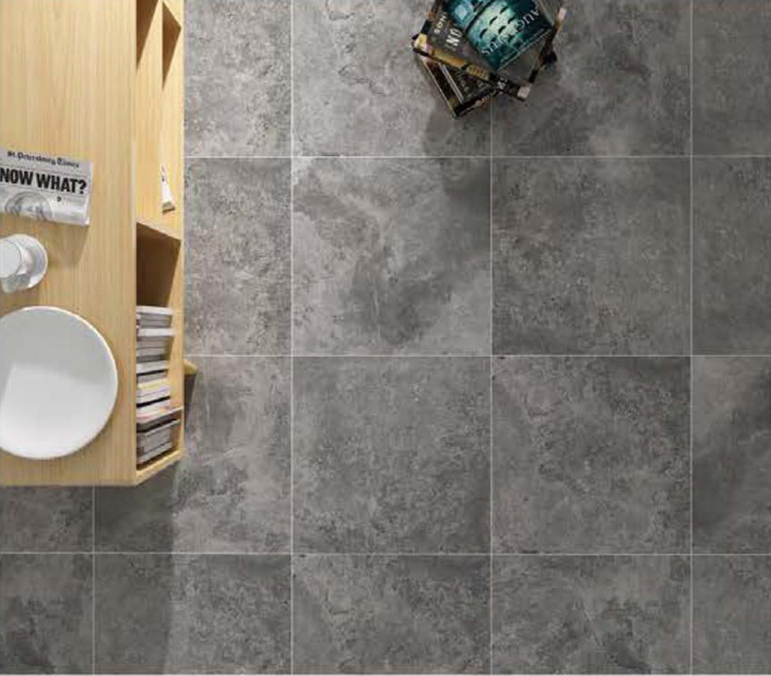 Hot Item 60x60 Grey Cement Pattern Glazed Porcelain Floor Tile For Living Room