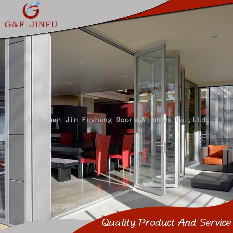 China Storm Proof Aluminium Bi Folding Patio Doors For Exterior