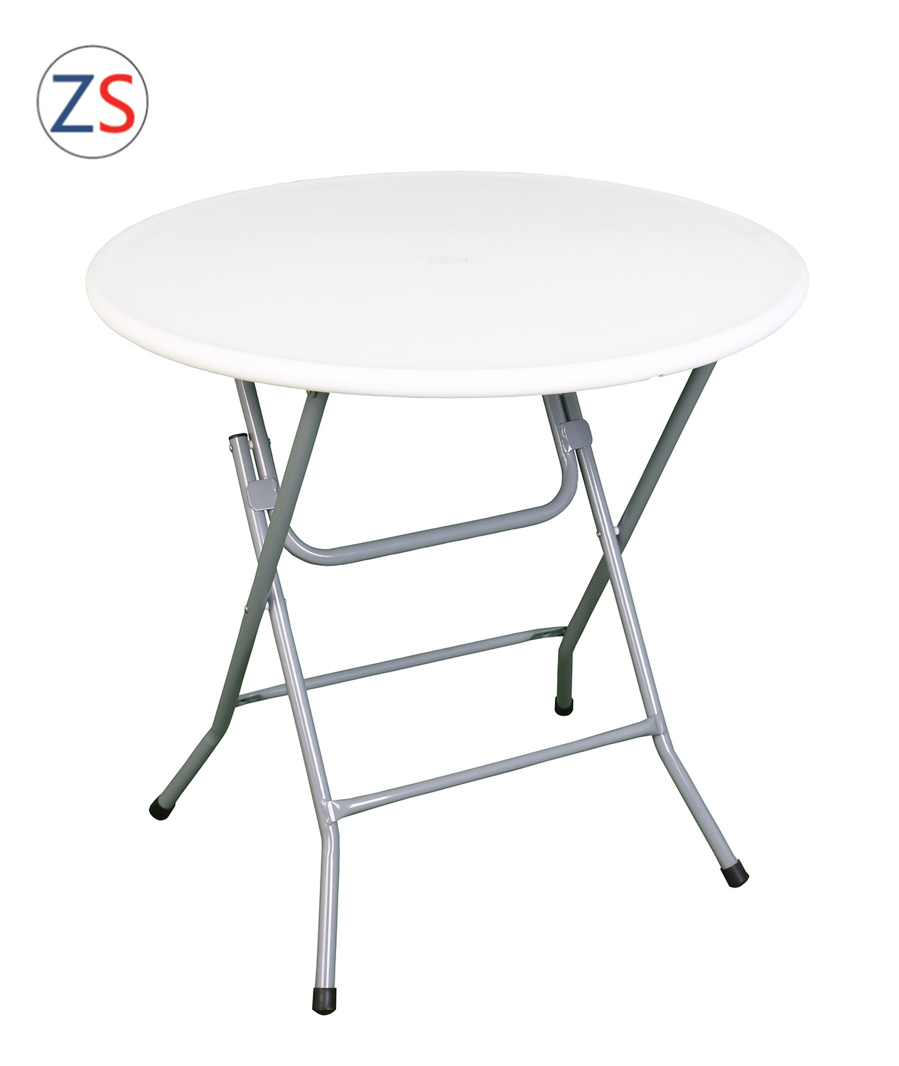 China 80cm Outdoor Round Folding Table, Small Round Folding Cafe Table
