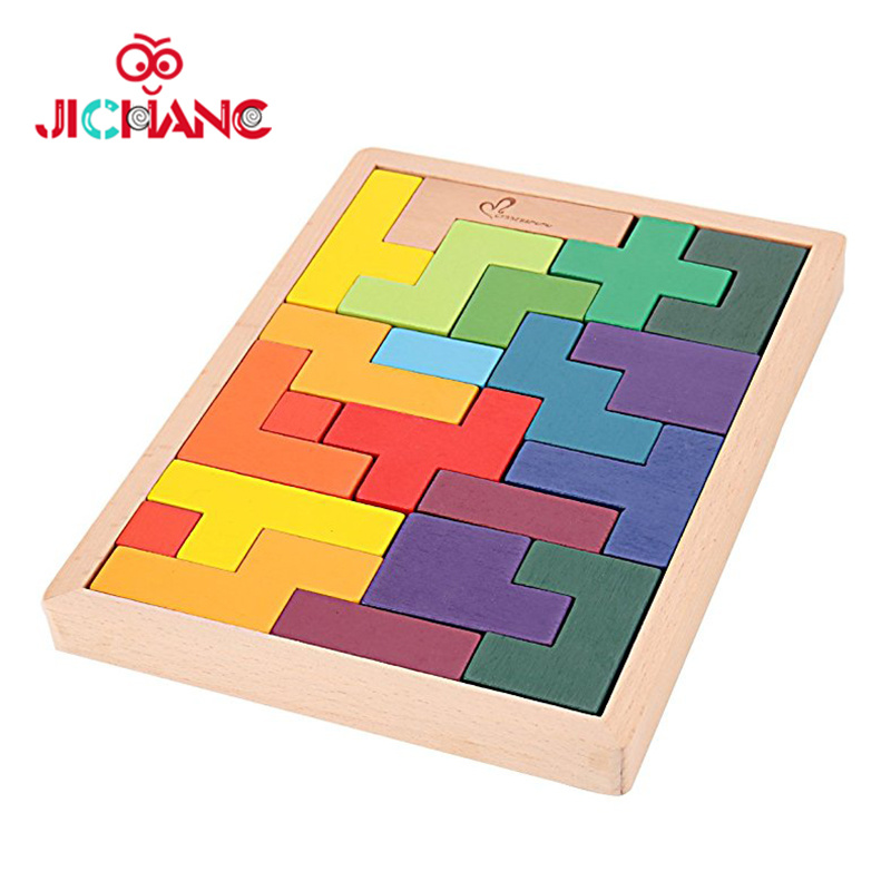 China Intelligent Classic Wooden Tetris Puzzle Game Kids Toys Photos
