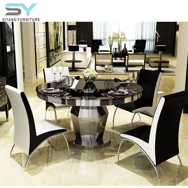 [Hot Item] Living Room Furniture Dining Table Set Round Glass Dining Table