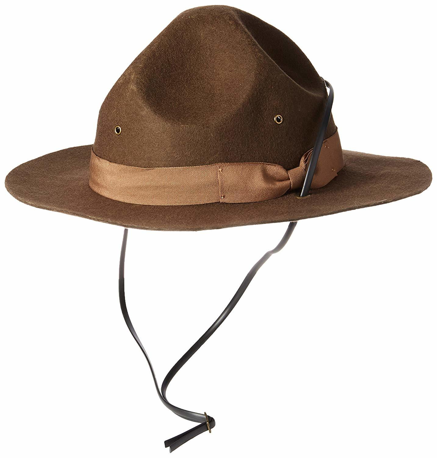 6d2fe7be4 [Hot Item] Wholesale Wool Felt Wide Brim Campaign Scout Hat with String for  Costume