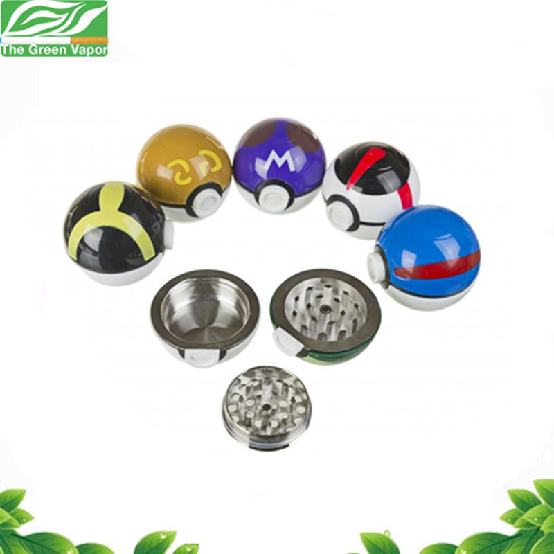 Smoking Accessories 53mm 3 Parts Metal Zinc Alloy Pokeball Spice Grinder pictures & photos