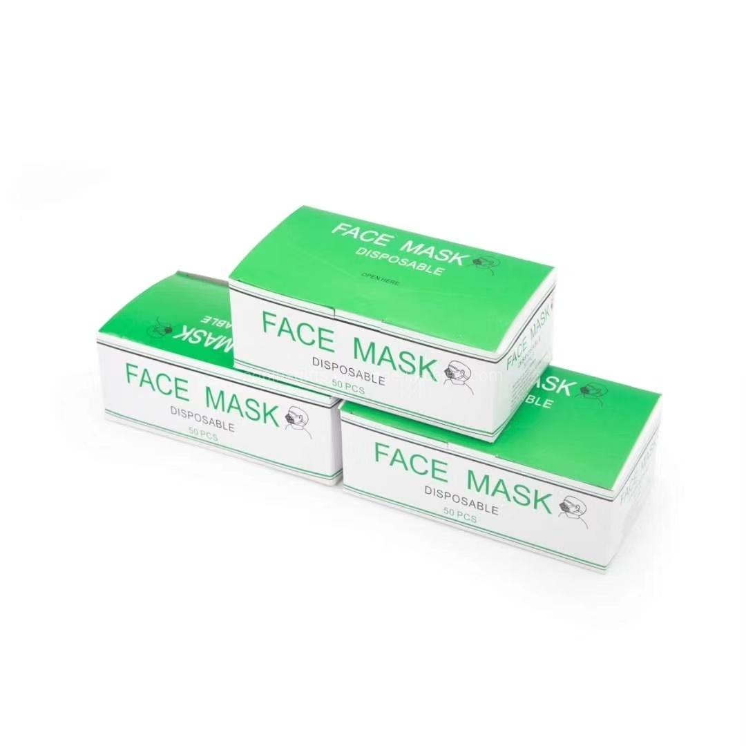 greenlife 50 pcs disposable ear loop face masks
