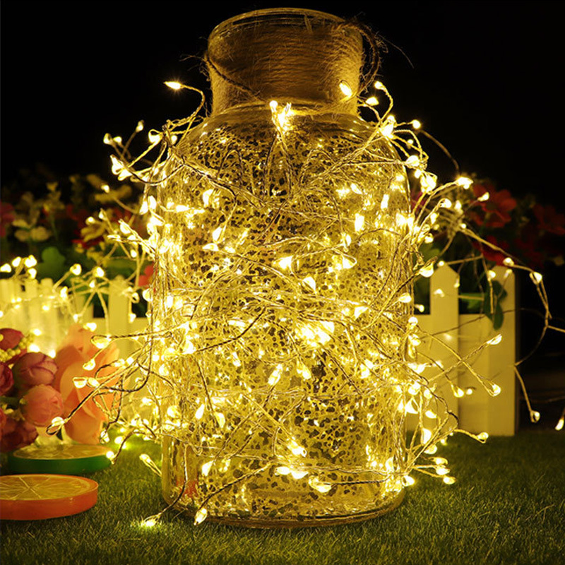 IP44 Firecracker Silver Wire LED String Light pictures & photos