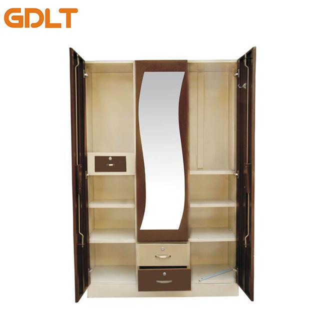 China Super Deluxe 3 Door Steel Almirah Design Price Painting Metal Wardrobe