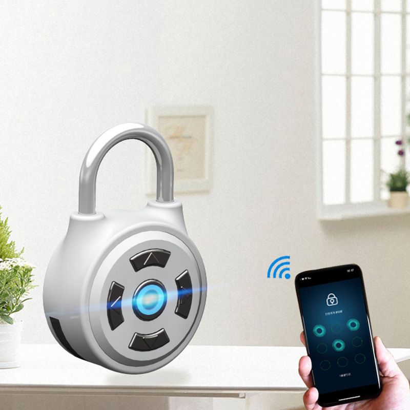High Quality Silver Bluetooth Padlock Door Cabinet Smart (M1)