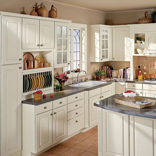 China Raised Panel Square Kitchen Cabinet - China Kitchen ...