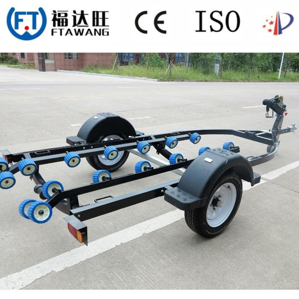 China Galvanized Sing Axle Double Axle Boat Trailer Jet Ski Trailer China Trailer Cage Trailer