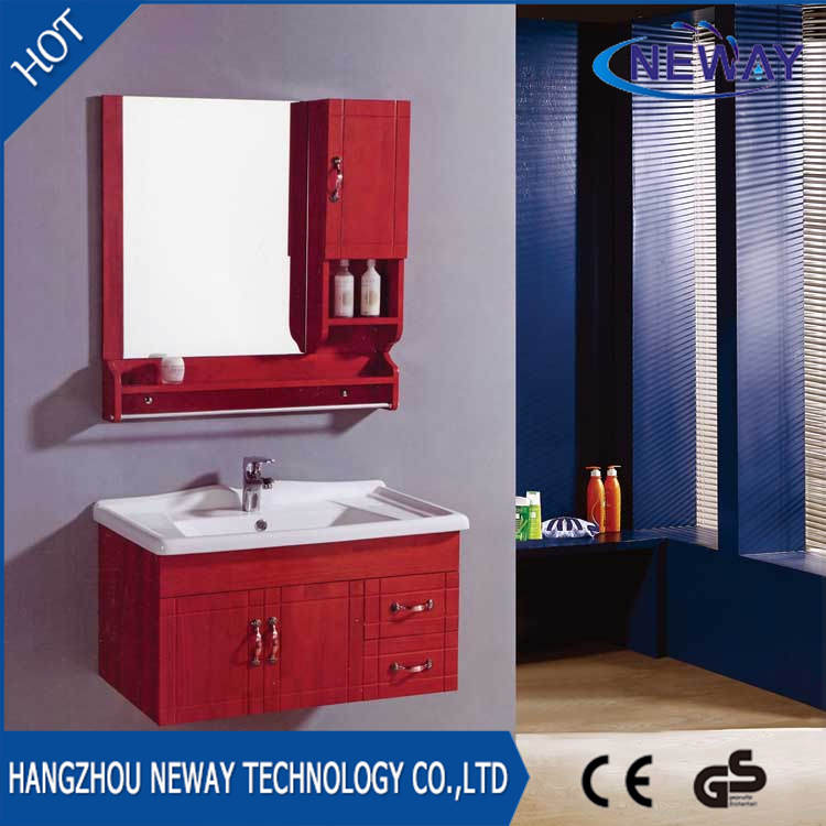 China Whole Wall Mounted Wood Commercial Bathroom Vanity Units Cabinet