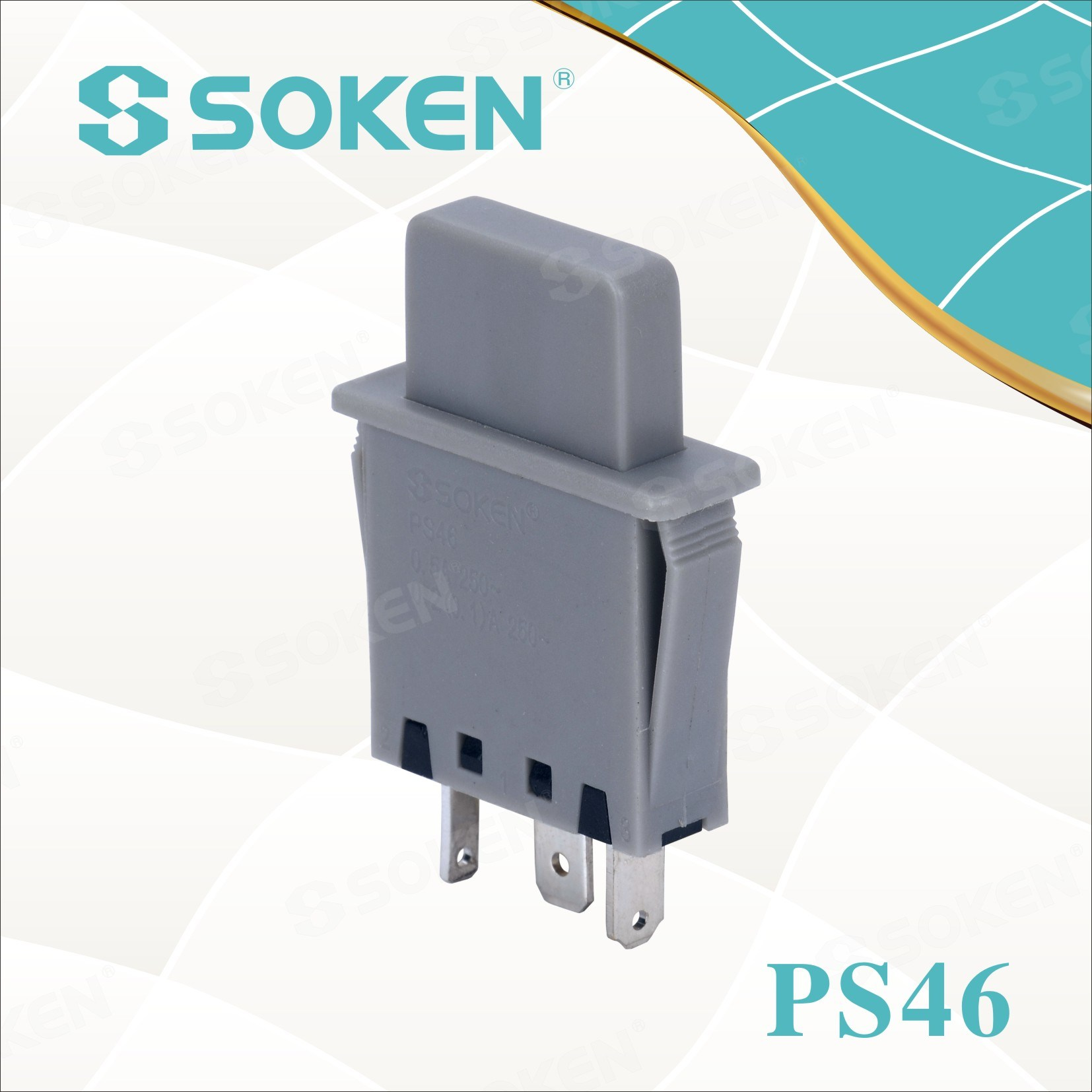 Soke Refrigerator Door Lamp Push Button Switch PS46 1 Pole