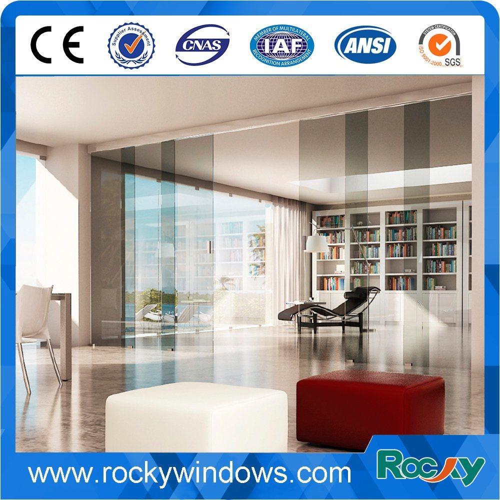 China Interior Frameless Glass Sliding Doors With Hardware China