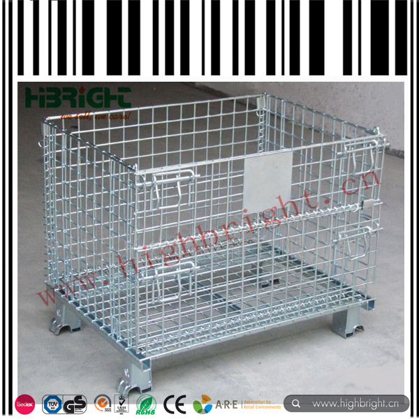 China Zinc and Chromed Collapsible Wire Mesh Pallet Cage Photos ...