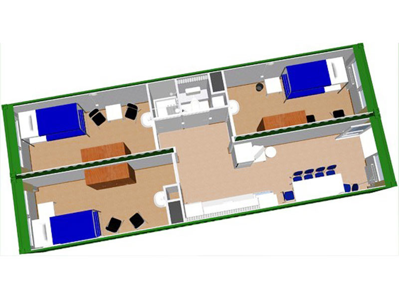 China 2 40ft modified container house 40ft flat packed - 40ft shipping container home ...