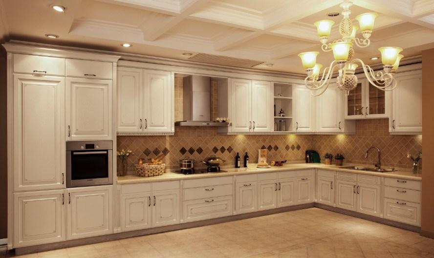 China Germany Imported Pvc Membrane Kitchen Cabinets V