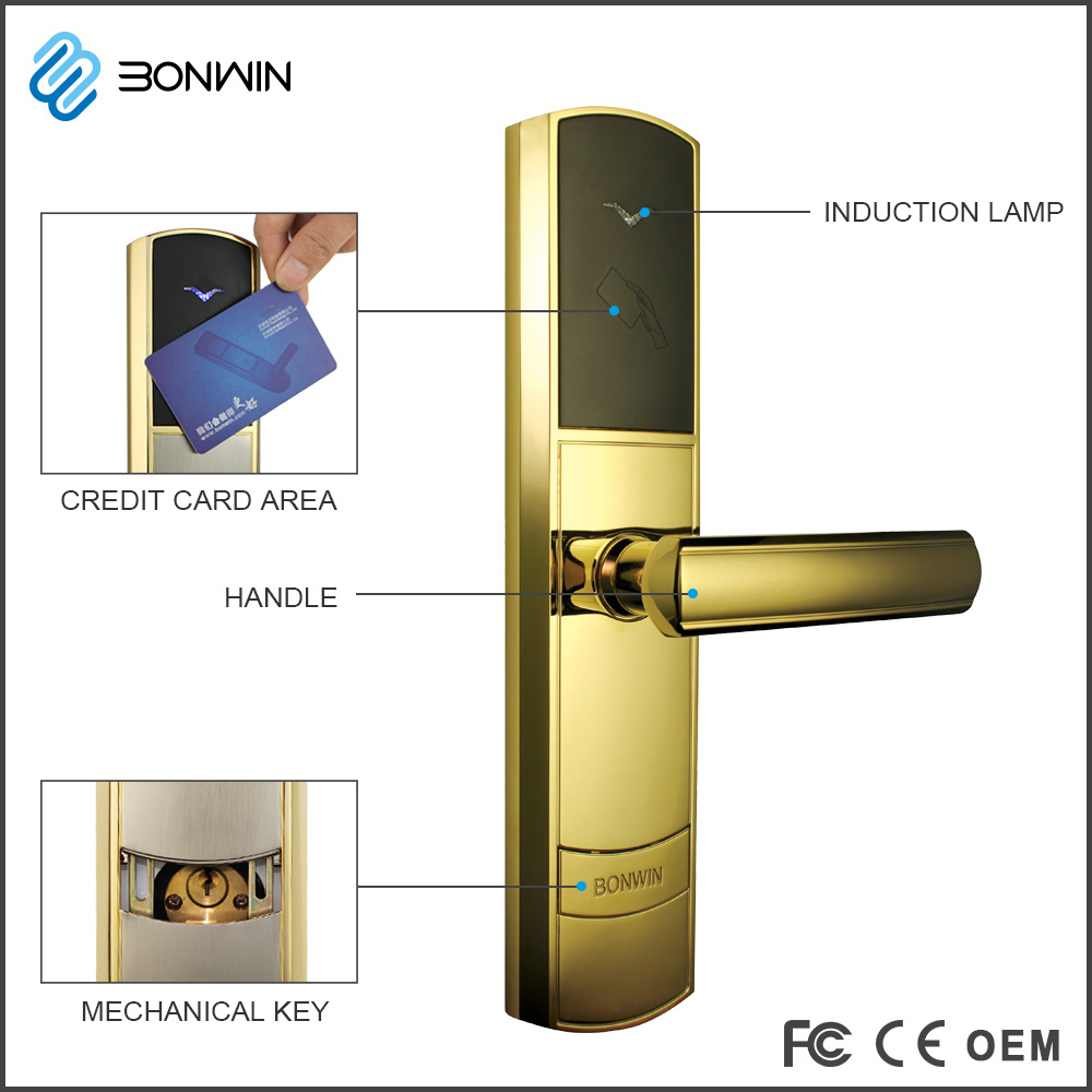 Elecronic Hotel Mortise Clinder Door Lock Supplier pictures & photos