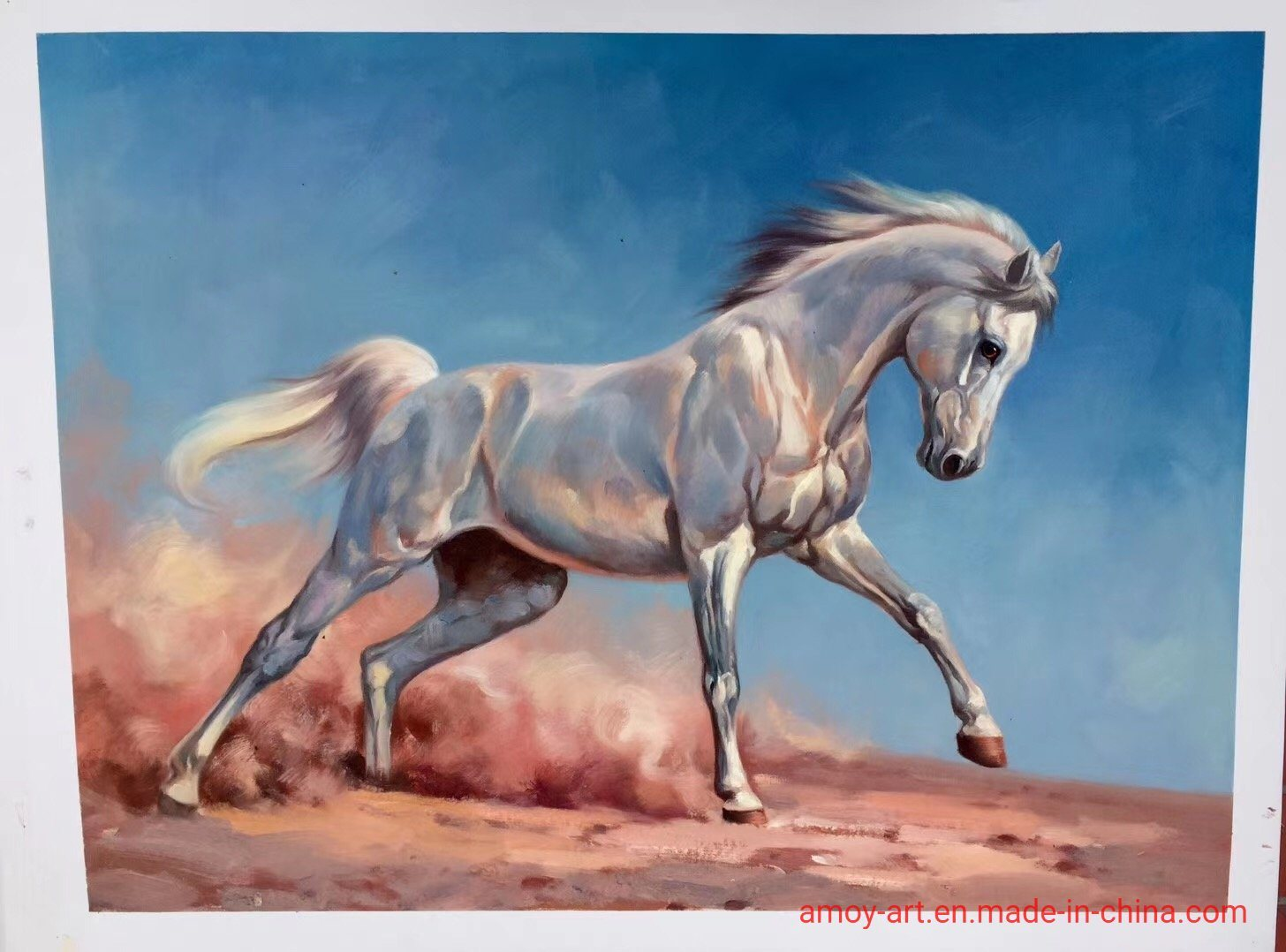 China Reproduction Of Realistic Running Horses Oil Painting On Canvas Photos Pictures Made In China Com